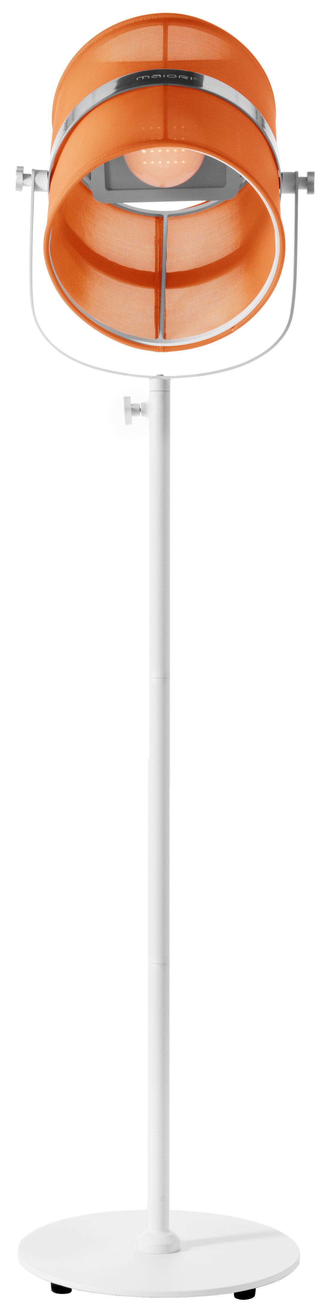 lampadaire solaire la lampe paris led sans fil orange pied blanc maiori. Black Bedroom Furniture Sets. Home Design Ideas
