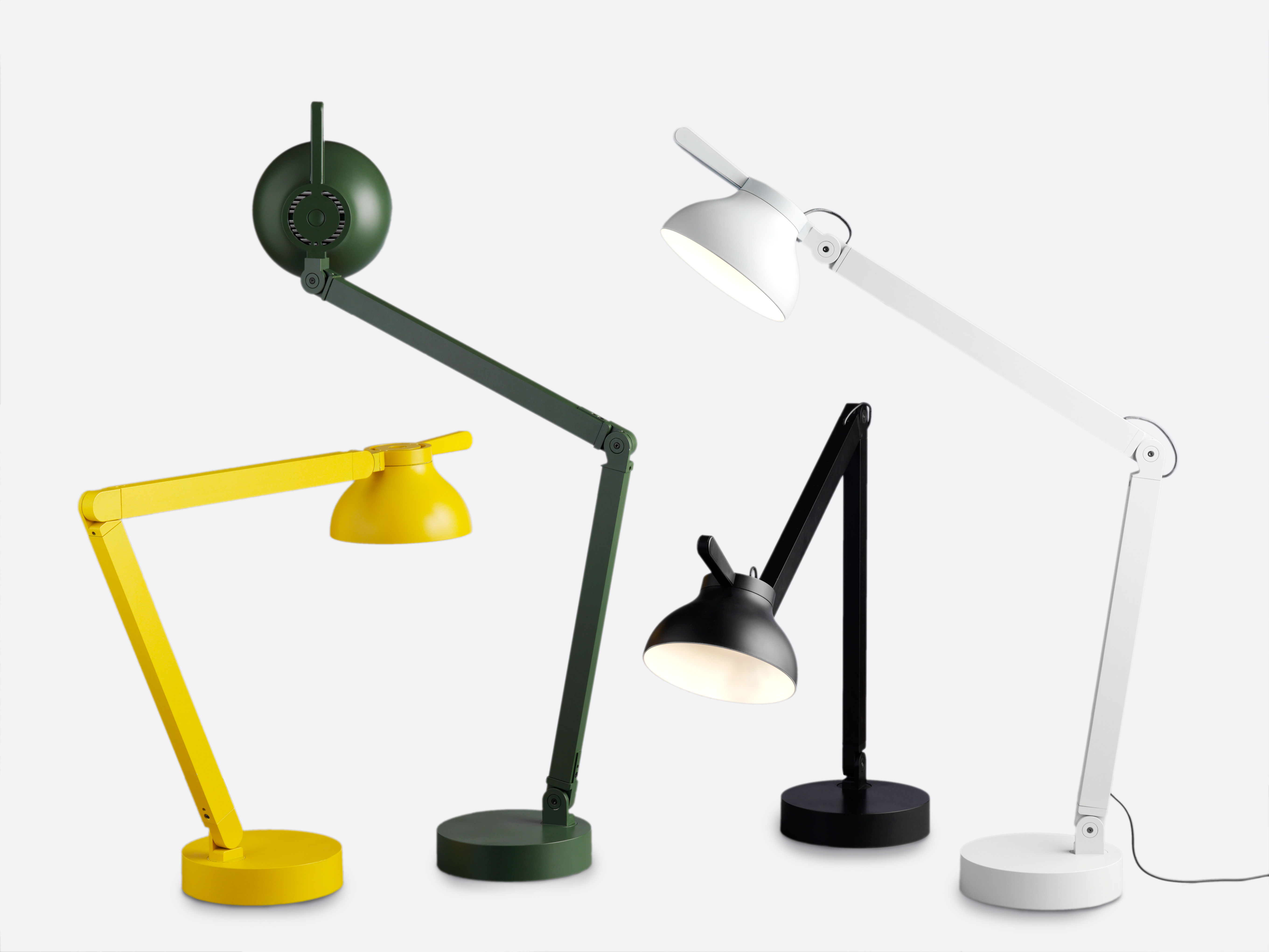 Lampe de table pc by pierre charpin led vert for Lampe de bureau london