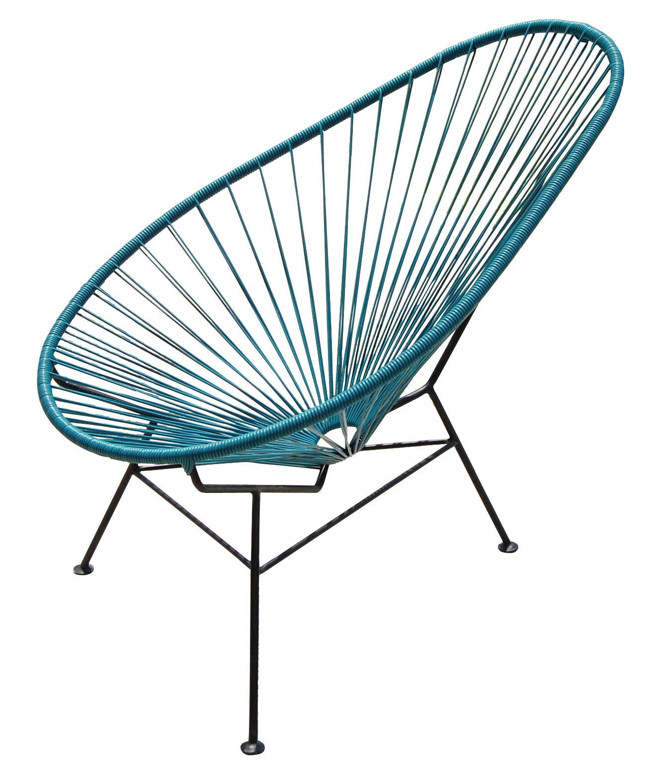 Acapulco Low armchair Petrol blue by OK Design pour Sentou Edition