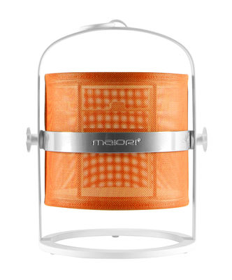 Lampe solaire La Lampe Petite LED / Sans fil - Structure blanche - Maiori Blanc,Orange en Métal