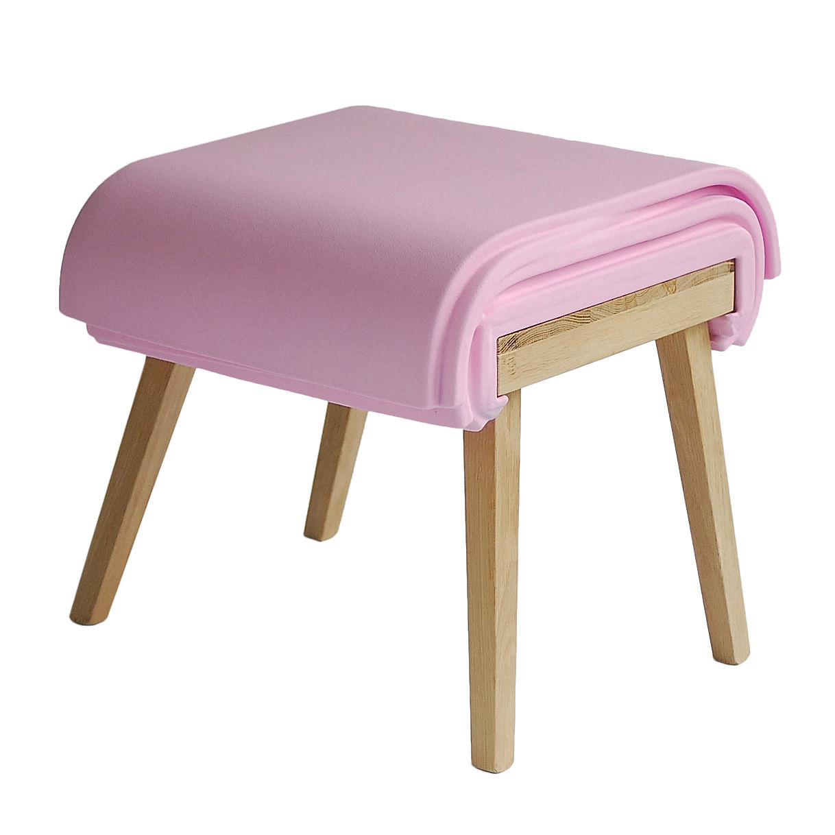 tabouret sliding stool assise coulissante rose soonsalon. Black Bedroom Furniture Sets. Home Design Ideas
