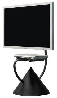 Meuble tv hzps support universel pour cran plat noir cuivr zeus - Meuble support tv ecran plat ...