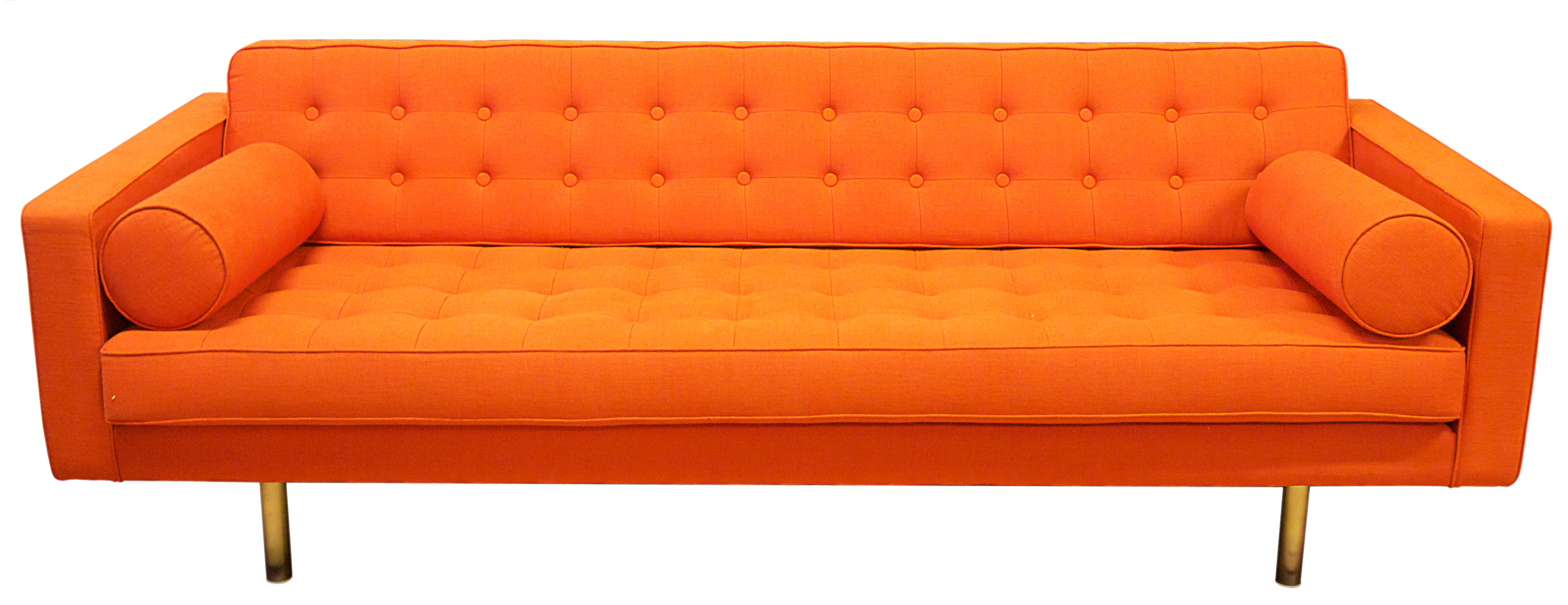 Canap droit 3 places l 215 cm orange made in design editions - Canape made in design ...