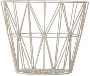 Cesto Wire Large - / Ø 60 x H 45 cm di Ferm Living - Grigio - Metallo