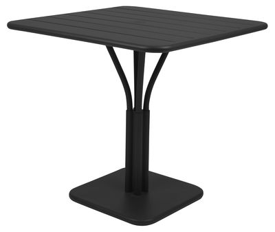 Table de jardin luxembourg 80 x 80 cm pied central for Table de jardin avec pied central