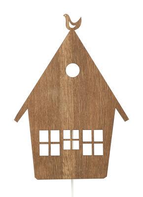 Foto Applique House di Ferm Living - Legno scuro - Legno