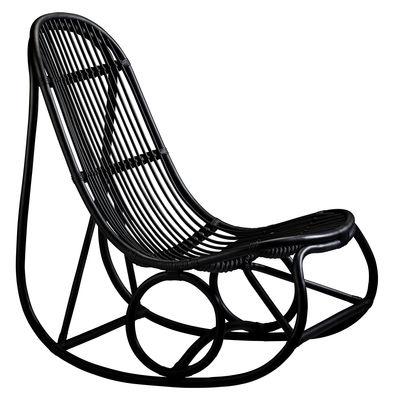 Foto Rocking chair Nanny - / Riedizione 1969 di Sika Design - Nero - Fibre