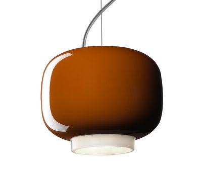 Foto Sospensione Chouchin Mini n°1 - / Ø 17 x H 14 cm di Foscarini - Arancione - Vetro