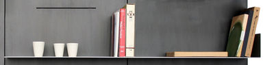 Libreria iWall - scaffale con un bordo - L 158 cm di Zeus - Alluminio - Metallo