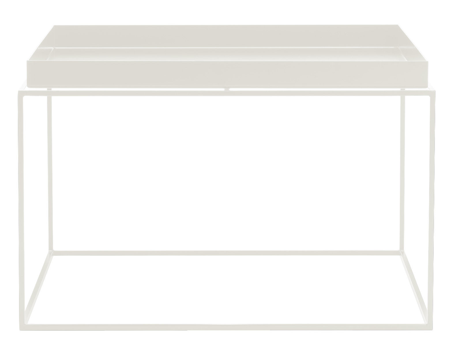 Tray coffee table square h 35 cm 60 x 60 cm white by hay for Table hauteur 60 cm