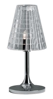 Foto Lampada da tavolo Flow - h  25 cm di Fabbian - Trasparente - Metallo
