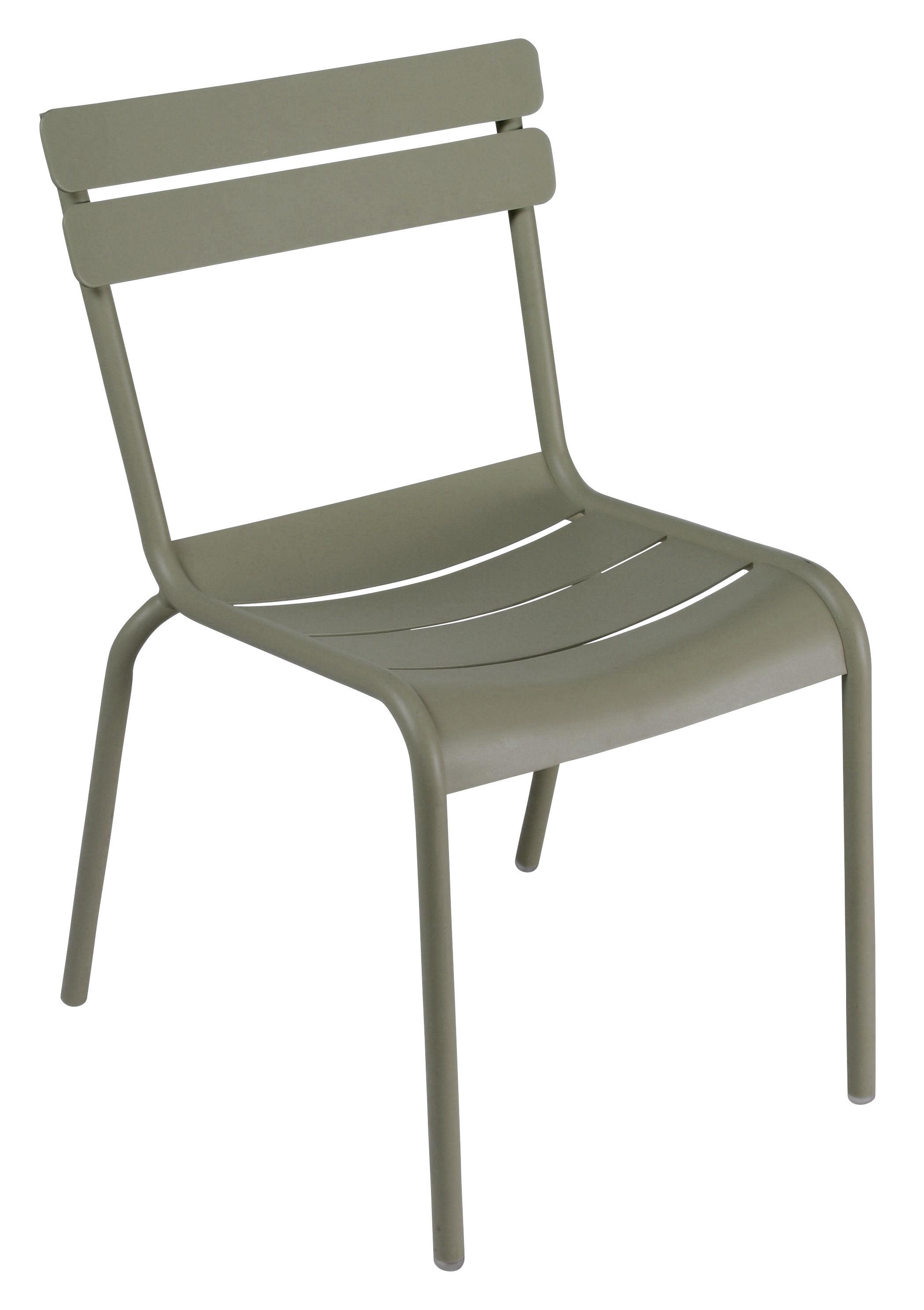 chaise empilable luxembourg aluminium savane fermob. Black Bedroom Furniture Sets. Home Design Ideas