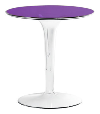 Foto Tavolino d'appoggio Tip Top di Kartell - Viola - Materiale plastico