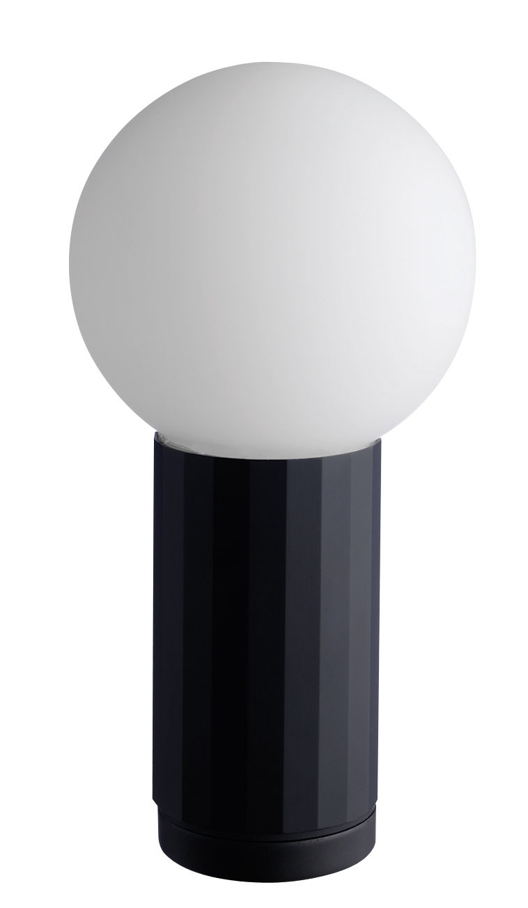 Lampe de table turn on led h 19 5 cm noir for Lampe de bureau london