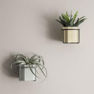 Support mural plant pour pot de fleurs gris ferm living - Support mural plantes ...