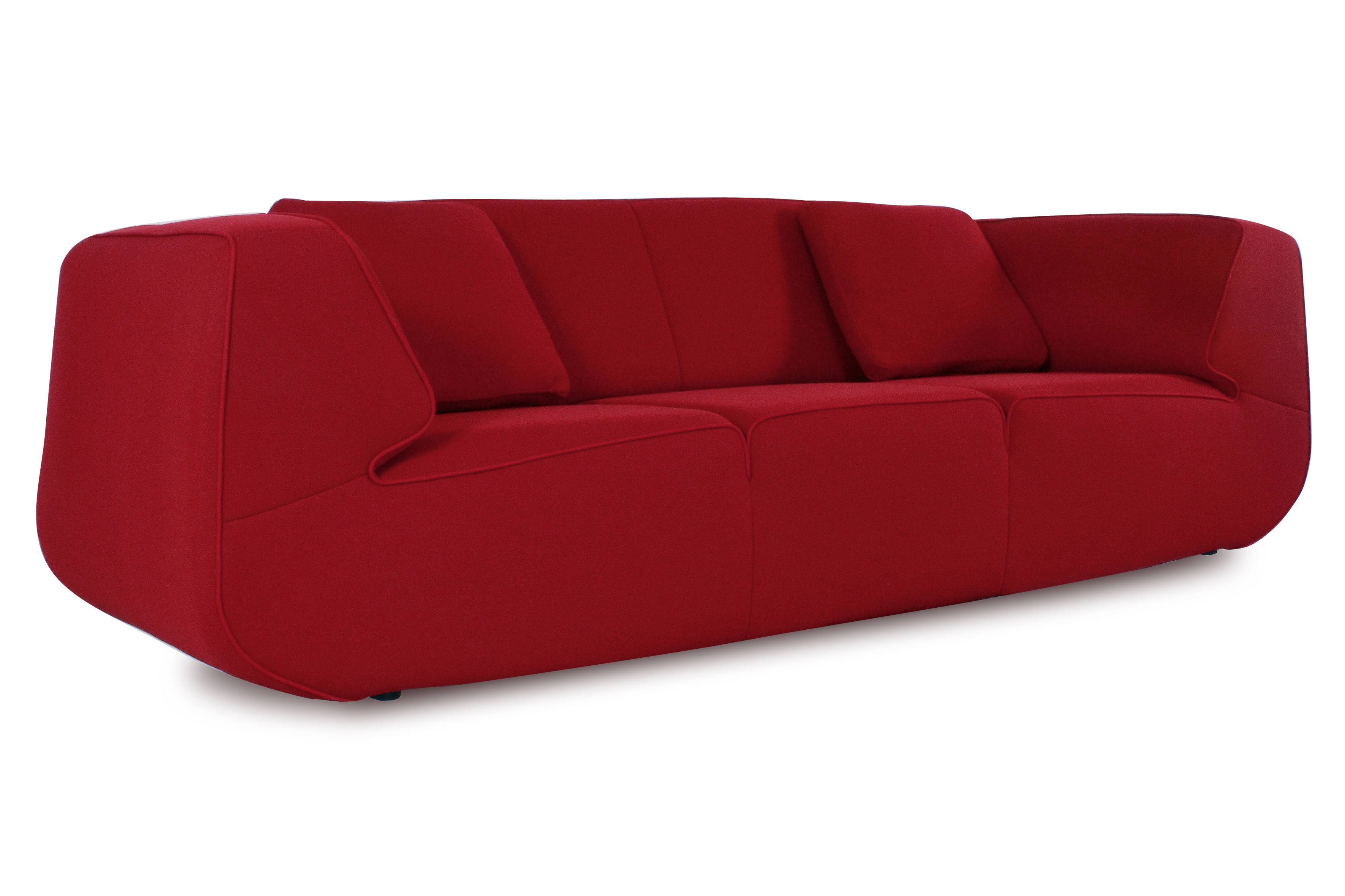 Canap droit bump by ora ito xl 3 places l 238 cm rouge rouge dunlo - Vente privee dunlopillo ...
