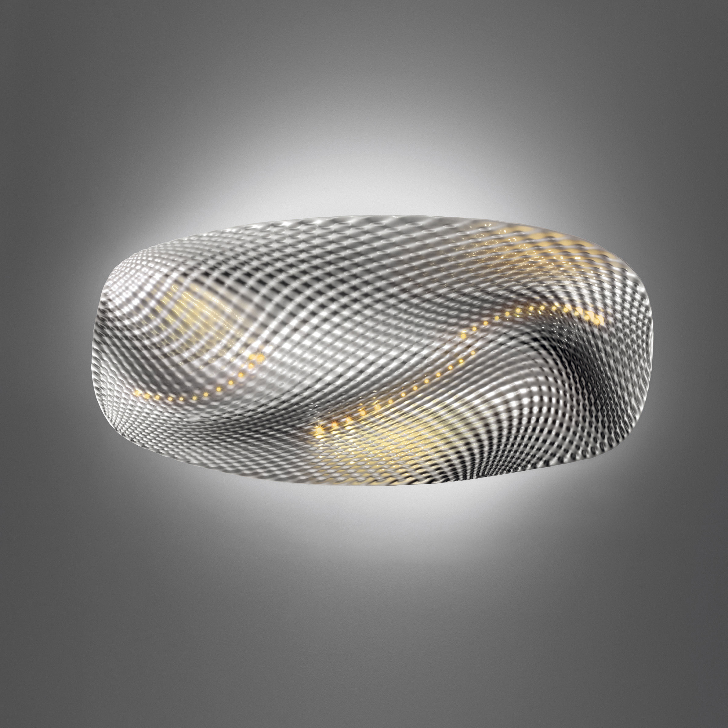 applique cosmic angel led plafonnier gris alu chrome artemide. Black Bedroom Furniture Sets. Home Design Ideas
