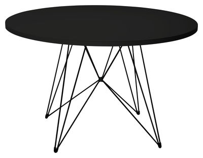 table xz3 ronde 120 cm noir pi tement noir magis. Black Bedroom Furniture Sets. Home Design Ideas
