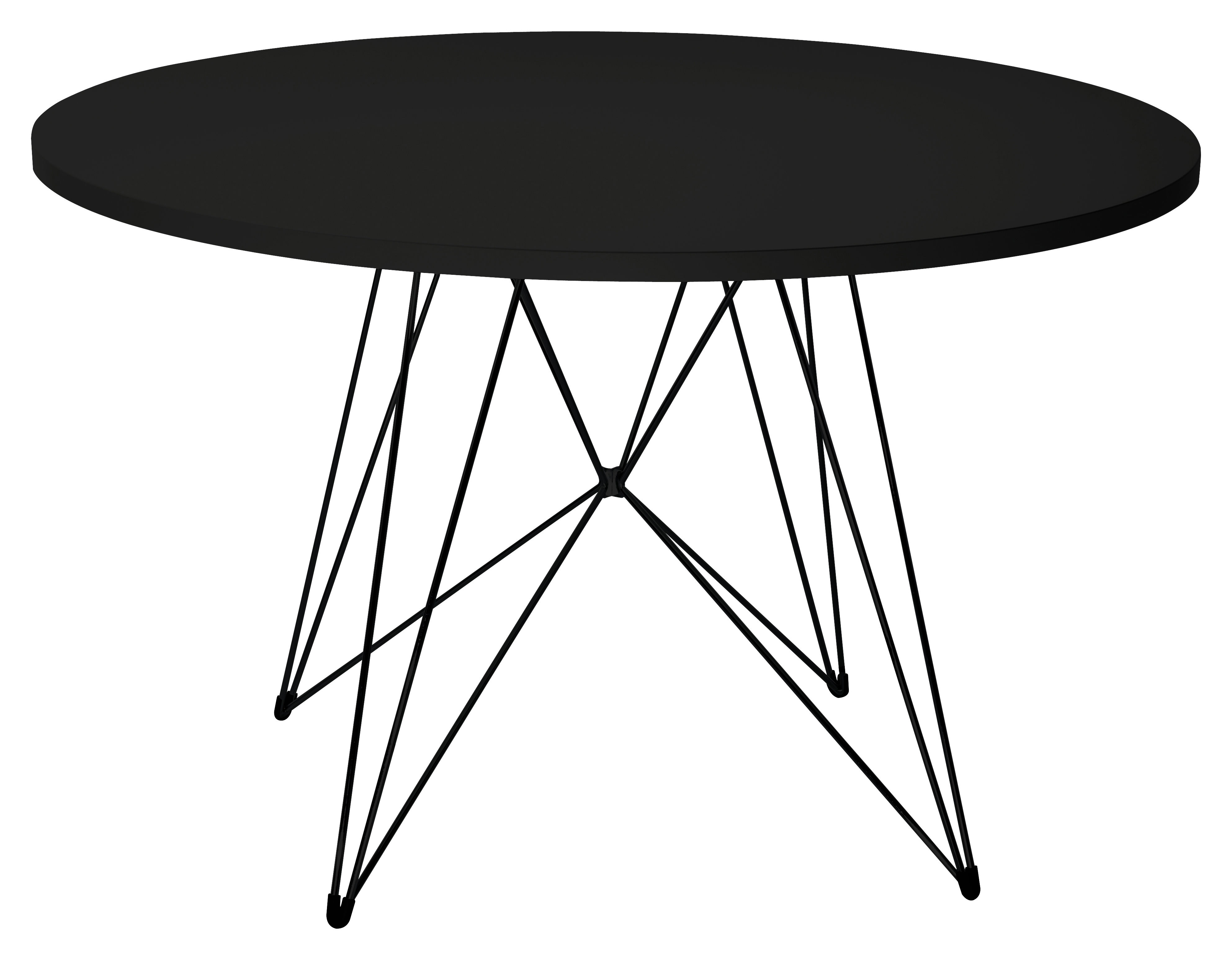 Table Xz3 Ronde 120 Cm Noir Pi Tement Noir Magis