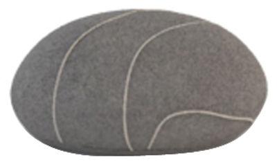 Foto Cuscino Pierre Livingstones - Versione in lana da interno di Smarin - Grigio scuro - Tessuto