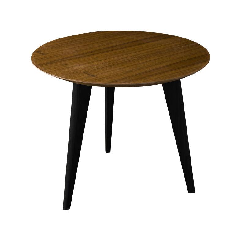 table basse lalinde small 45cm pieds noirs teck. Black Bedroom Furniture Sets. Home Design Ideas