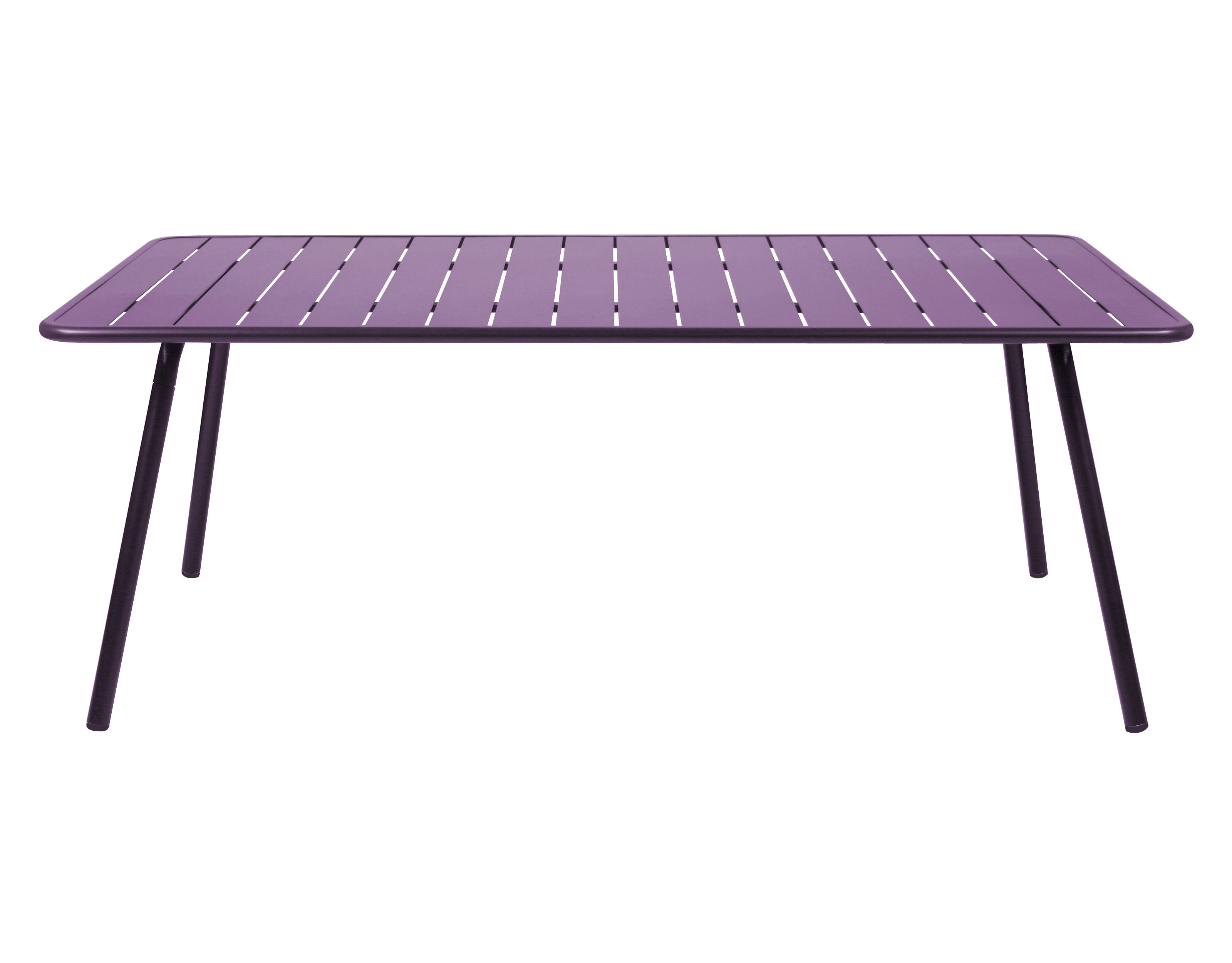 Table luxembourg 8 personnes 207 x 100 cm aubergine for Table 5 personnes