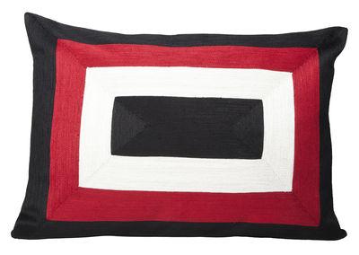 Foto Fodera del cuscino Infinity / 40 x 55 cm - Maison Sarah Lavoine - Bianco,Rosso,Nero - Tessuto Foodera cuscino