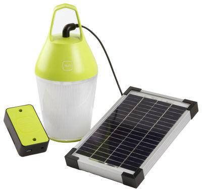 Foto Lamapada solare Nomad - senza fili / Caricabatteria per cellulari - Energia elettrica o solare di O'Sun - Verde - Materiale plastico