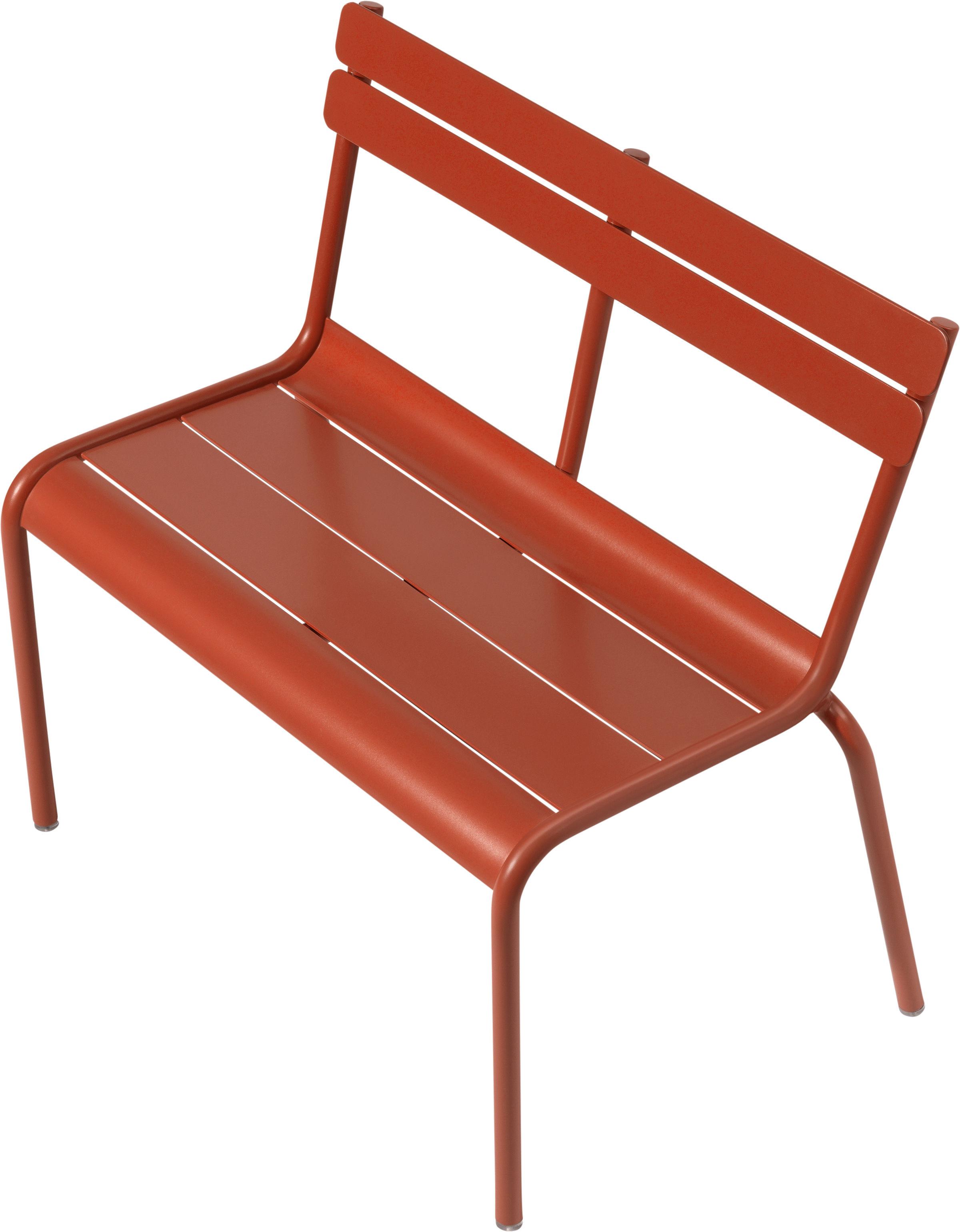 banc enfant luxembourg kid l 58 cm m tal carotte fermob. Black Bedroom Furniture Sets. Home Design Ideas