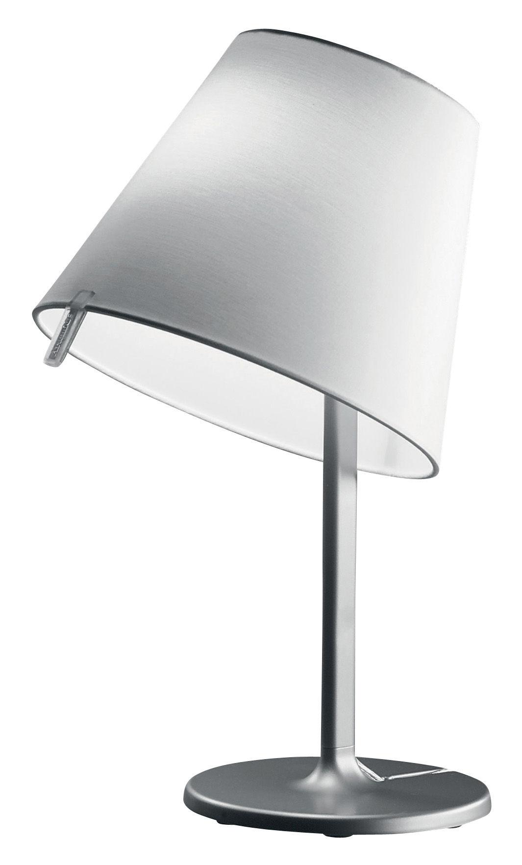 lampe de table melampo notte h 42 cm gris aluminium artemide. Black Bedroom Furniture Sets. Home Design Ideas