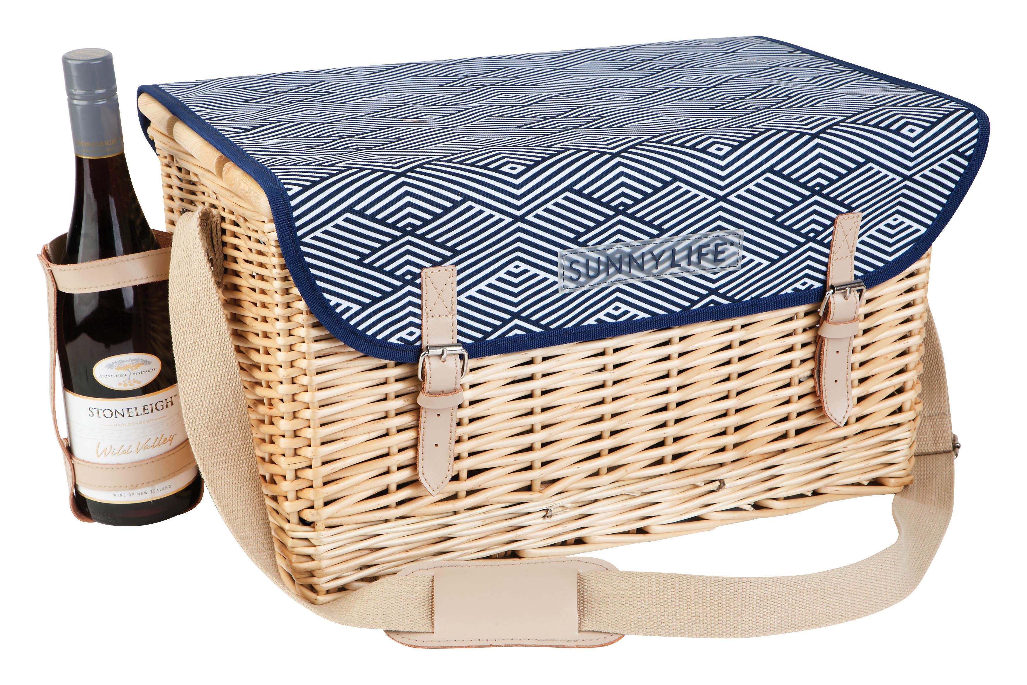 montauk panier pique nique blue by sunnylife. Black Bedroom Furniture Sets. Home Design Ideas