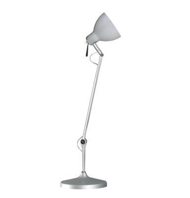 Lampe de bureau Luxy T1 /Bras 3 sections - Rotaliana  Métallisé / Abat-jour métallisé