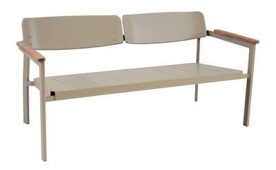 Foto Panca con schienale Shine / 2 posti - L 147 cm - Emu - Vert de gris - Metallo
