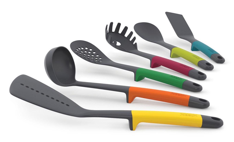 Ustensile de cuisine elevate set de 6 pi ces multicolore - Ustensile de cuisine joseph joseph design ...