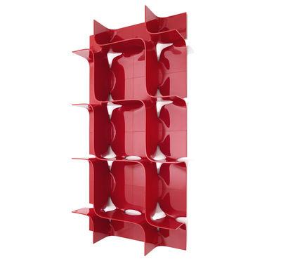 Foto Scaffale Tide - componibile - L 45 x A 45 cm di Magis - Rosso lucido - Materiale plastico