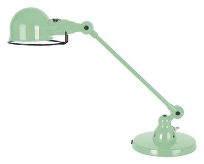 Foto Lampada da tavolo Signal - 1 braccio articolato - L 40 cm di Jieldé - Verde acqua brillante - Metallo