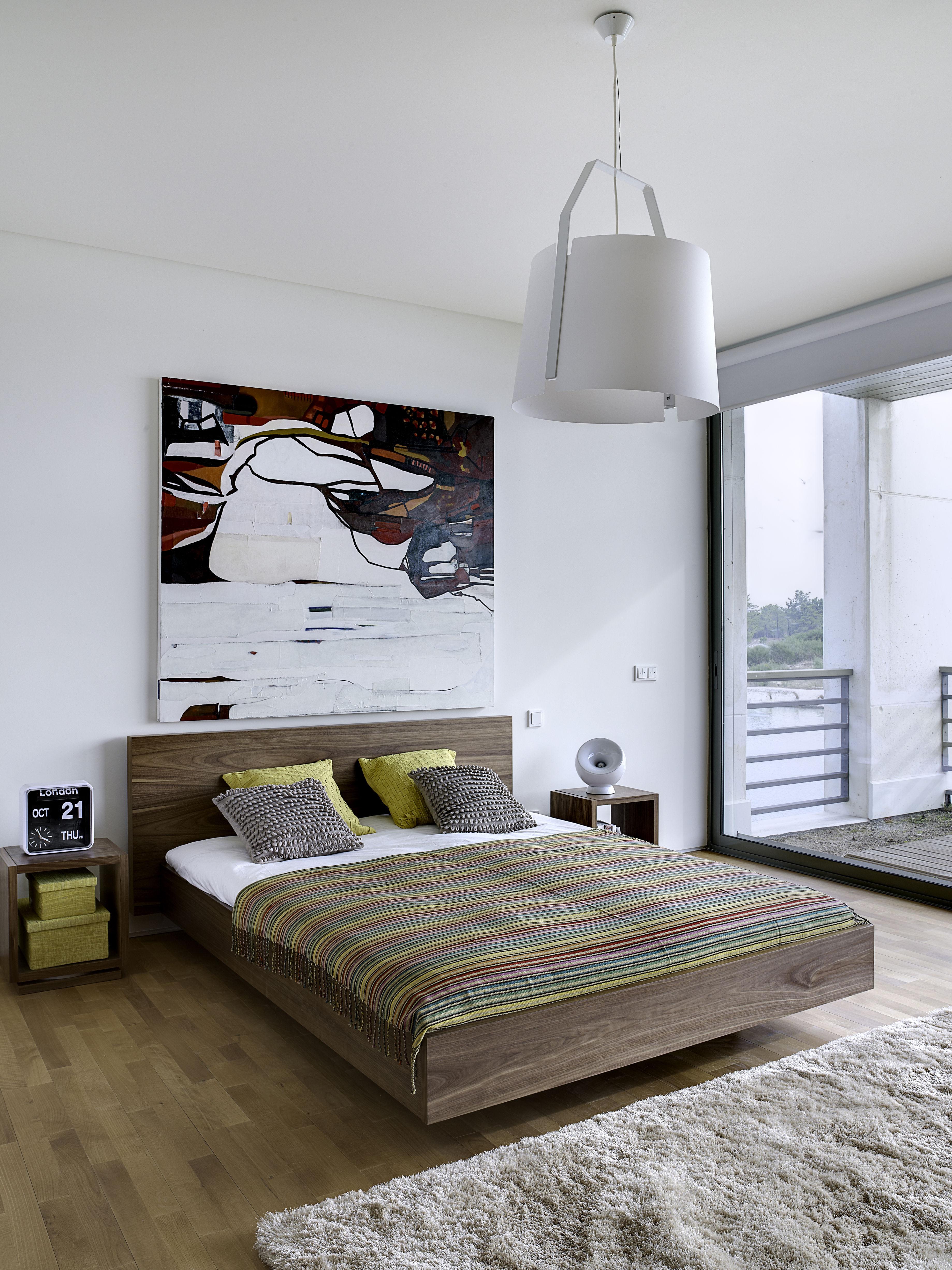 lit double float 180 x 200 cm noyer pop up home. Black Bedroom Furniture Sets. Home Design Ideas