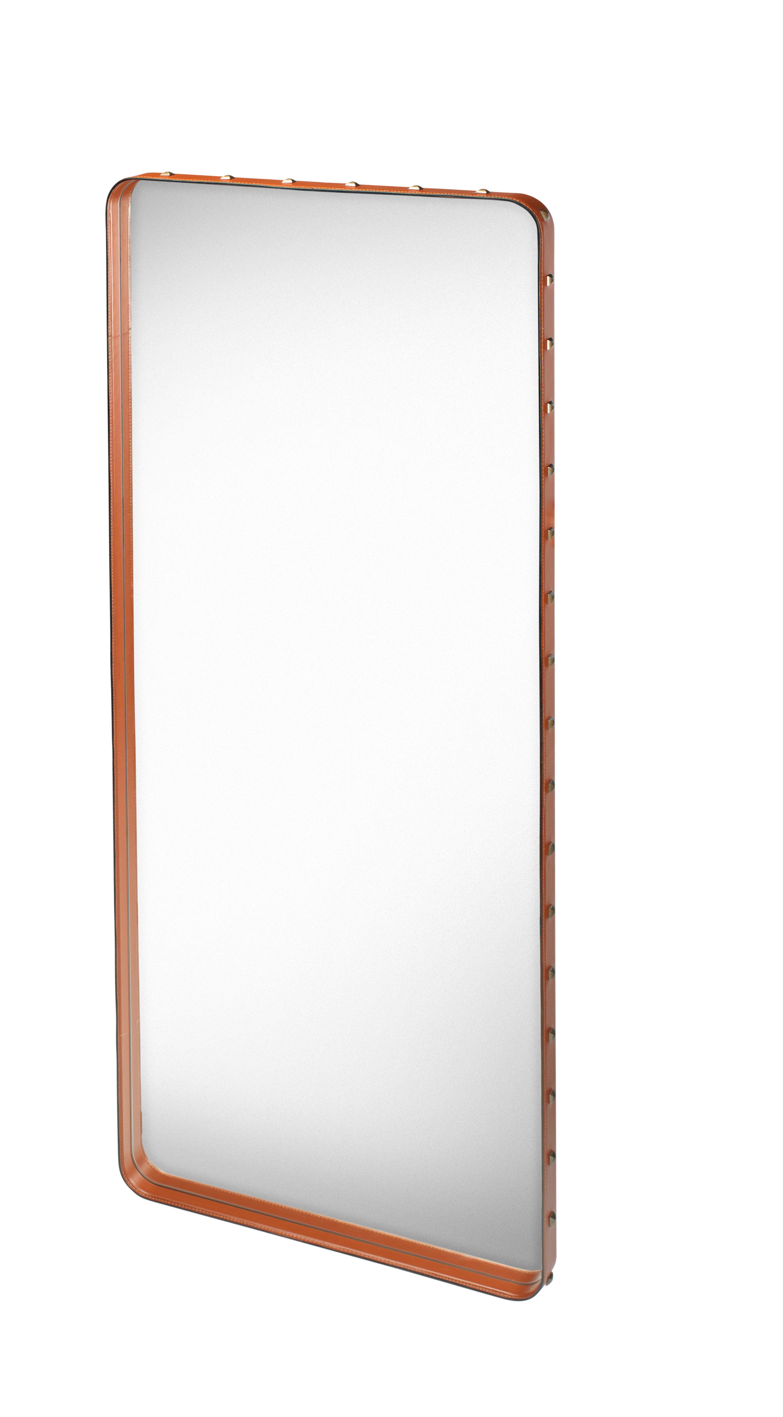Miroir adnet 180 x 70 cm r dition 50 39 cuir naturel gubi for Miroir 90 x 180