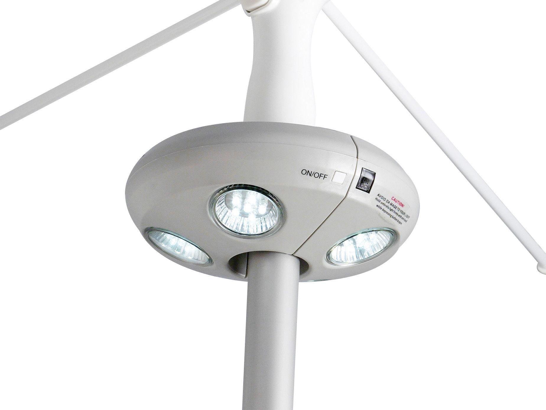 Lampe pour parasol quaseo led sans fil gris clair sywawa for Luminaire exterieur led sans fil