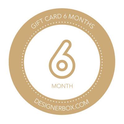Designer Box Gift card 6 months subscription Europe UE 1 United Kingdom Multicoulered