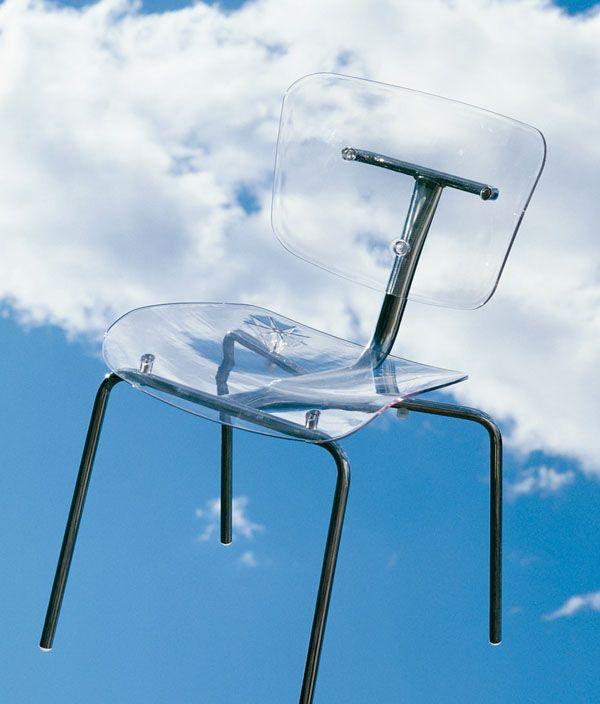 chaise slide transparente cristal segis. Black Bedroom Furniture Sets. Home Design Ideas