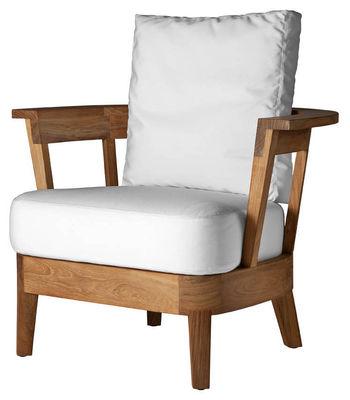 fauteuil bas borgos blanc driade. Black Bedroom Furniture Sets. Home Design Ideas