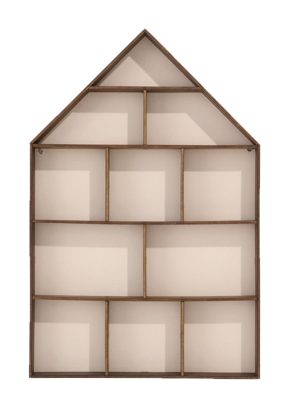 the little dorm wandregal ferm living wei holz dunkel ebay. Black Bedroom Furniture Sets. Home Design Ideas