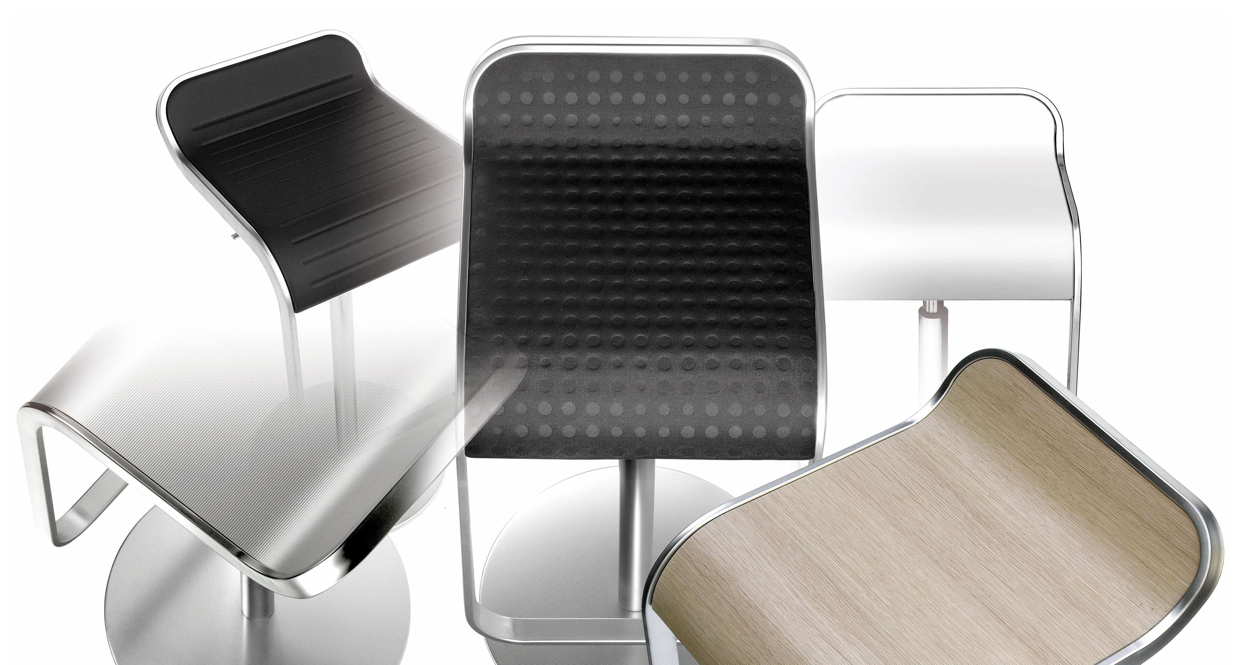 tabouret haut r glable lem assise corian pivotante blanc lapalma. Black Bedroom Furniture Sets. Home Design Ideas