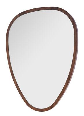 Ovo mirror medium 57 x 75 cm walnut by maison sarah - Miroir sarah lavoine ...