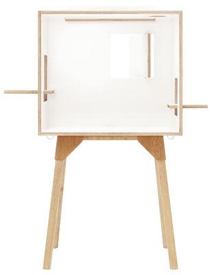 Foto Scrivania Koloro - / L 73 cm di Ichiro - Bianco,Legno chiaro - Legno