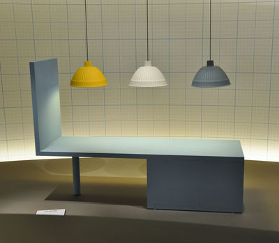 suspension cloche jaune miel fontana arte. Black Bedroom Furniture Sets. Home Design Ideas
