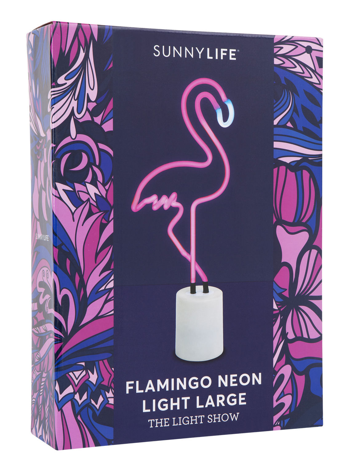 Neon flamant rose lamp h 45 cm flamingo by sunnylife - Flamant rose decoration ...