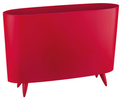 Magazine Stack Milano - Solid raspberry red - Plastic material