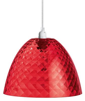 Foto Sospensione Stella S - Ø 25,5 cm di Koziol - Rosso trasparente - Materiale plastico